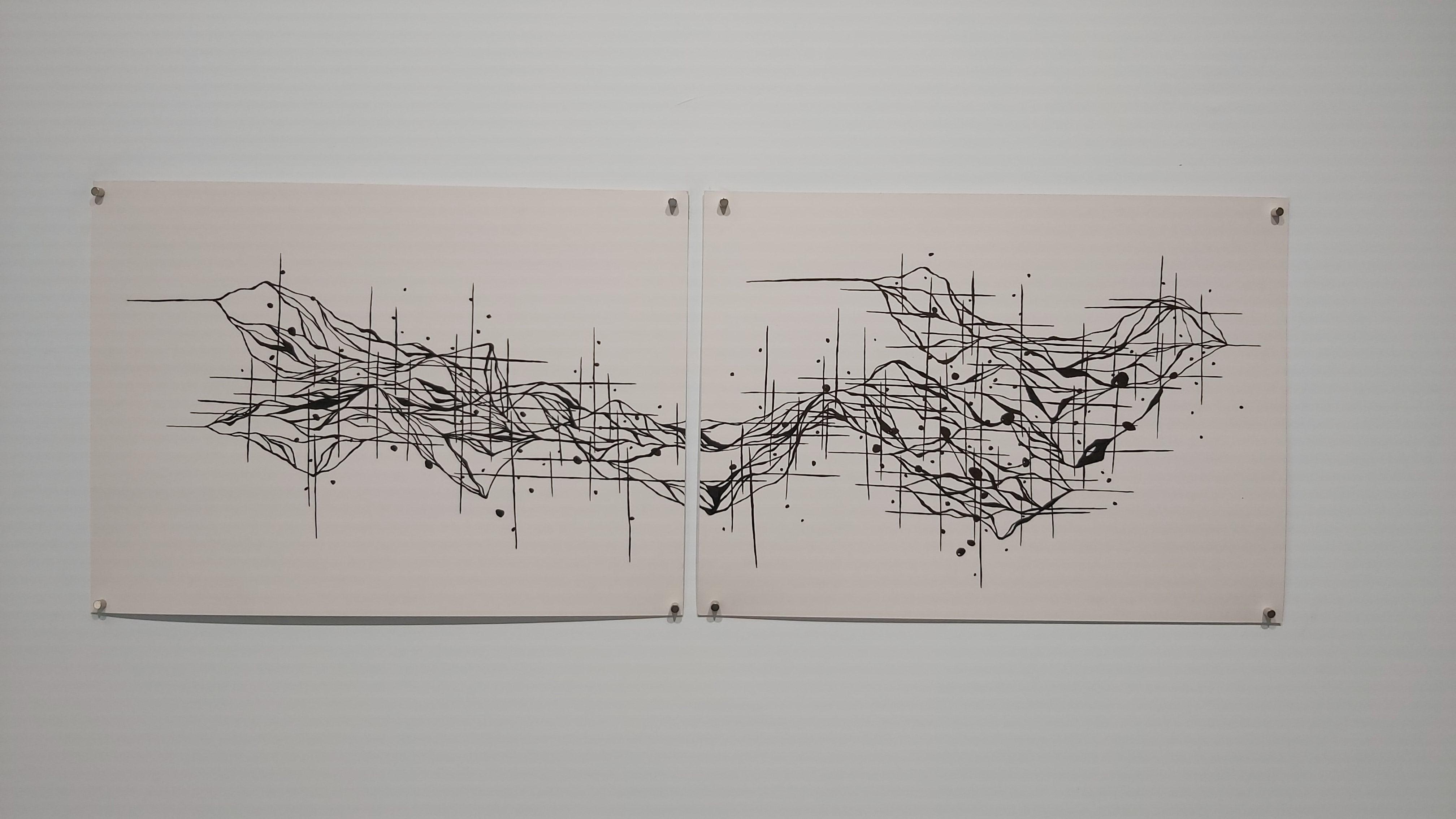 王怡婷《標記II》,2020,39*107cm,複合媒材。